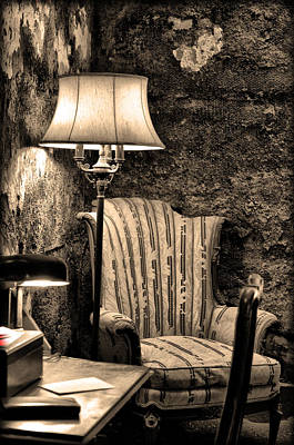 Al Capone's Easy Chair - Eastern State Penitentiary Art Print by Bill Cannon