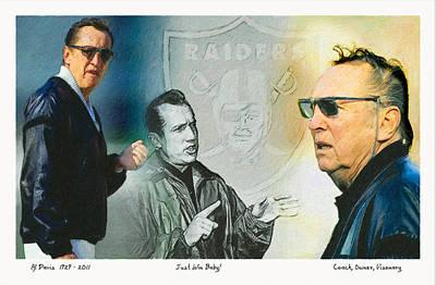 Oakland Raiders Painting - Al Davis Mr. Oakland Raider by John Farr