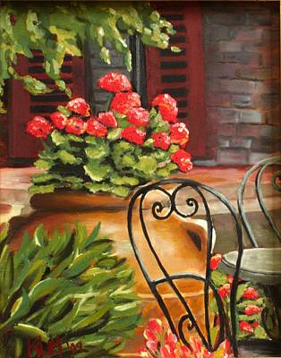Painting - Al Fresco by Karen Macek