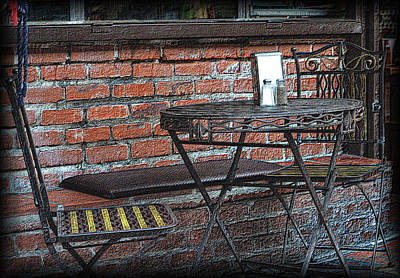 Photograph - Al Fresco On The Plaza by Nadalyn Larsen