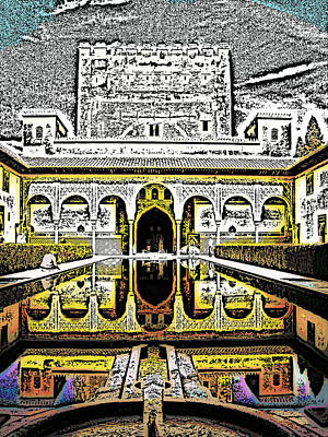 Al Andalus Photograph - Al Hambra Palace by Tom Gowanlock