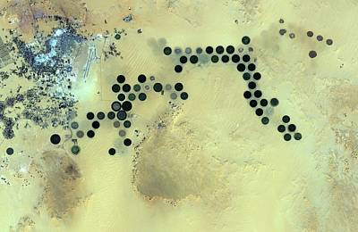 Satellite Image Photograph - Al Jawf by Jaxa/european Space Agency