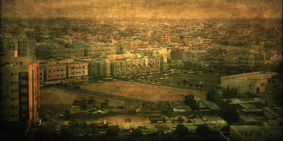 Al-khobar On Texture Art Print