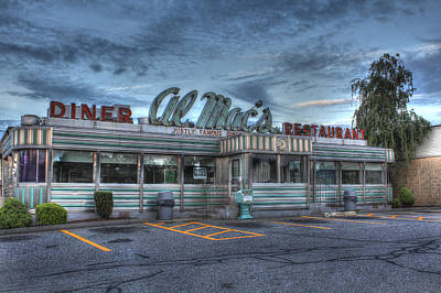 American Food Photograph - Al Mac's Diner by Andrew Pacheco
