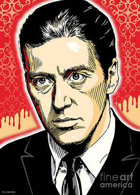 Al Digital Art - Al Pacino As Michael Corleone Pop Art by Jim Zahniser