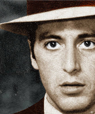 Al Pacino As Michael Corleone Art Print by Tony Rubino