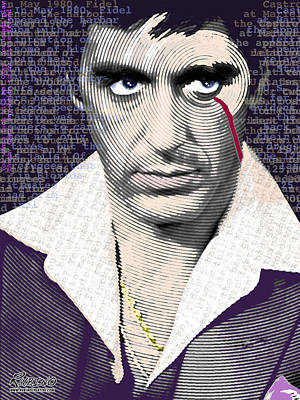 Al Pacino Scarface Art Print by Tony Rubino
