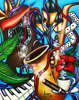 Espresso Painting - Al Ritmo The Carnaval by Annie Maxwell