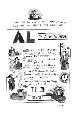 Novel Drawing - Al by Roz Chast