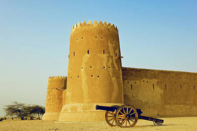 Sandstone Photograph - Al Zubarah Fort by Photography By Lubaib Gazir
