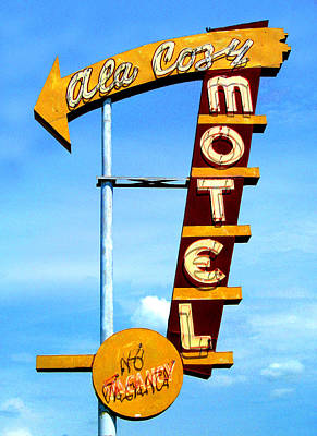 Photograph - Ala Cozy Motel by Larry Hunter