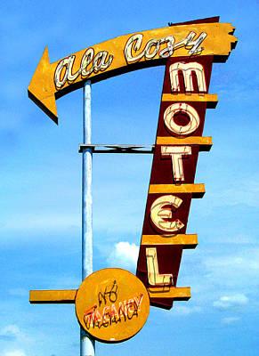 Ala Cozy Motel Art Print