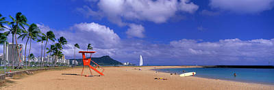 Ala Moana Beach Honolulu Hi Art Print