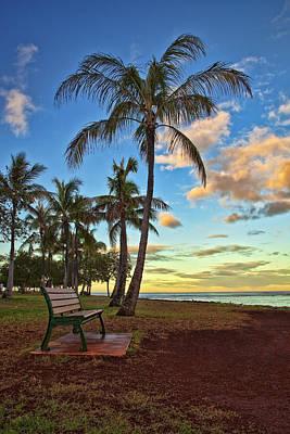 Dramatic Photograph - Ala Moana Beach Park Sunrise by Marcia Colelli