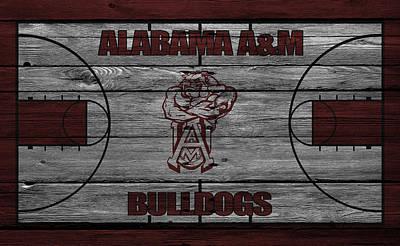 Alabama A M Bulldogs Art Print by Joe Hamilton