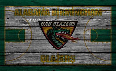 Alabama Birmingham Blazers Art Print by Joe Hamilton