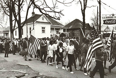 Sixties Photograph - Alabama Civil Rights March by Peter Pettus