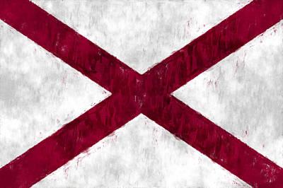 Alabama Flag Art Print by World Art Prints And Designs