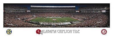 Alabama Football Panorama Art Print by Retro Images Archive