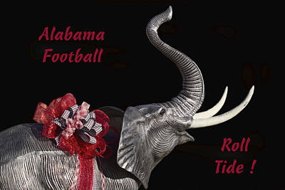 Alabama Football Roll Tide Art Print by Kathy Clark
