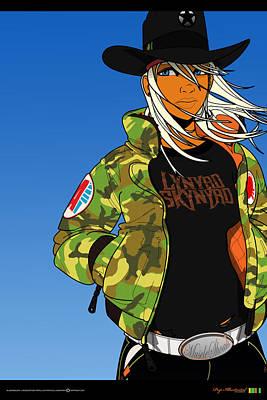 Bomber Jacket Digital Art - Alabama Girl - Camo Edition by Pop Illustrated