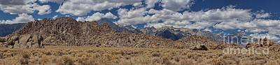Art Print featuring the photograph Alabama Hills And Eastern Sierra Nevada Mountains by Peggy Hughes
