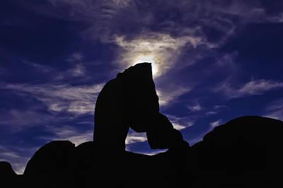 Photograph - Alabama Hills Arch Silhouette by Sherri Meyer