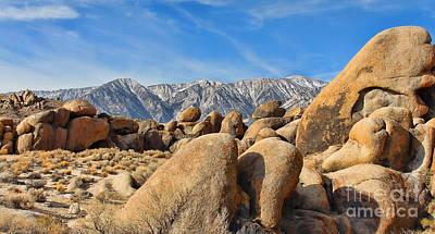 Open Impressionism California Desert Royalty Free Images - Alabama Hills Lone Pine California  6560 Royalty-Free Image by Jack Schultz