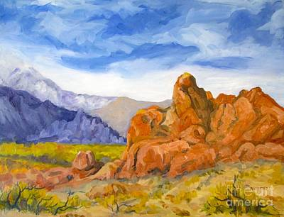 Painting - Alabama Hills Looking North by Pat Crowther