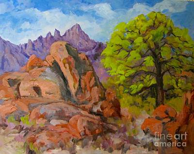 Painting - Alabama Hills Mt Whitney View by Pat Crowther