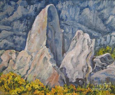 Painting - Alabama Hills Up Close by Pat Crowther
