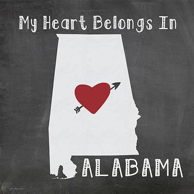 Alabama Art Print by Jo Moulton
