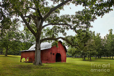 Photograph - Alabama Red Barn  by T Lowry Wilson