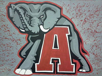 Alabama Roll Tide Art Print by Lisa Collinsworth
