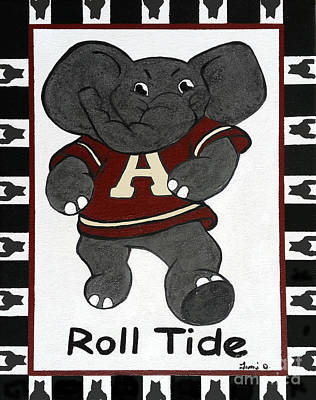 Alabama Roll Tide Art Print by Tami Dalton
