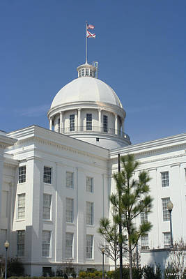 Photograph - Alabama State Capital Building Side View by Lesa Fine
