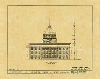 Photograph - Alabama State Capitol 1851 by Andrew Fare