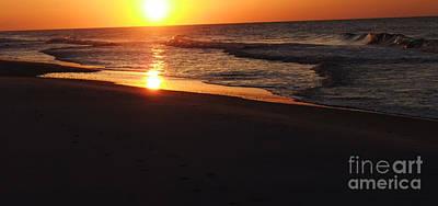 Alabama Sunset At The Beach Art Print by Deborah DeLaBarre