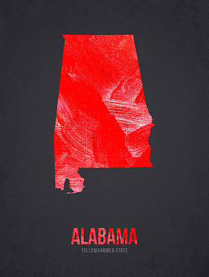 Tuscaloosa Digital Art - Alabama Yellowhammer State by Aged Pixel