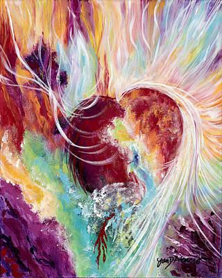 Alabaster Painting - Alabaster Heart by Jan Atencio