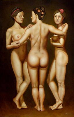 Nude Painting - Aladdin Lamp by Alessandra Veccia