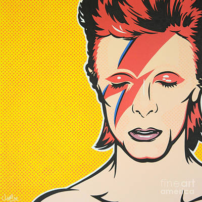 James Lee Painting - Aladdin Sane by James Lee