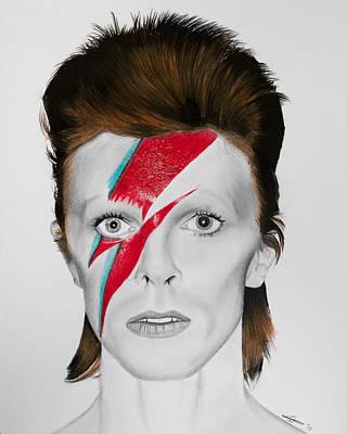 David Bowie Drawing - Aladdin Sane by Robert Bateman