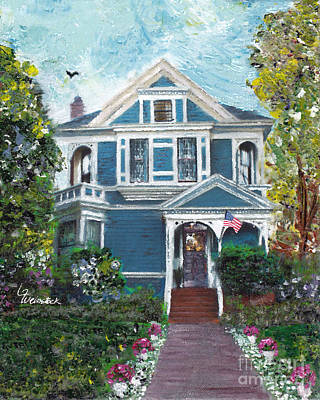 Painting - Alameda 1887 - Queen Anne by Linda Weinstock