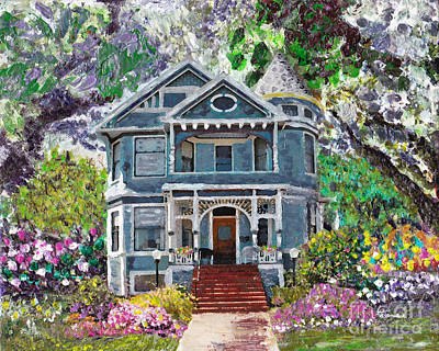 Mixed Media - Alameda 1890 Queen Anne by Linda Weinstock