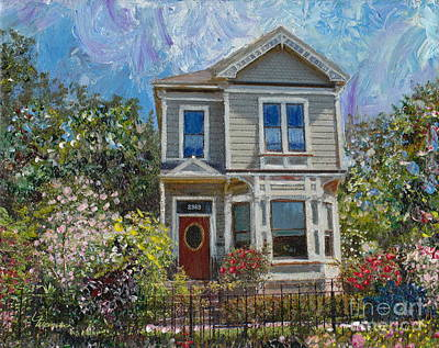 Painting - Alameda 1892 Queen Anne by Linda Weinstock