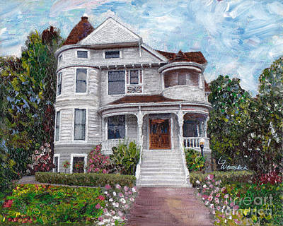 Painting - Alameda 1897 - Queen Anne by Linda Weinstock
