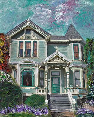 Alameda 1897 - Queen Anne Art Print by Linda Weinstock