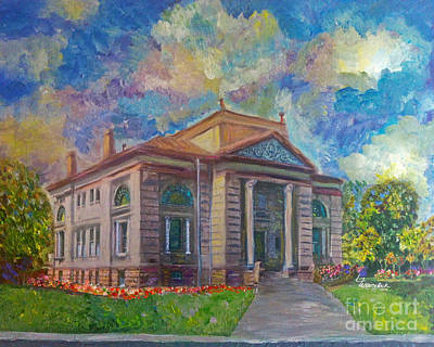Mixed Media - Alameda Carnegie Library 1899 by Linda Weinstock
