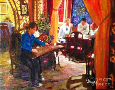 Painting - Guzheng by Linda Weinstock